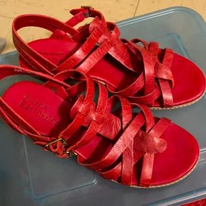 Brand new red shoes